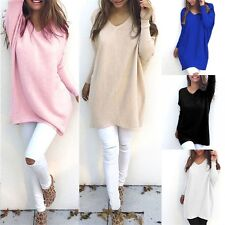 Women Ladies Long Sleeve Tops Baggy Sweater Blouse Shirt Knit Jumper Pullover