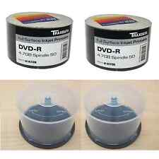 BUNDLE: 1 x 100 PACK TRAXDATA PRINTABLE 16X DVD-R AND 2 x 50 DISC SPINDLE TUBS
