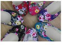 Womens Ballerina Ballet Dolly Comfy Pumps Ladies Flower Flats Soft Flat Shoes