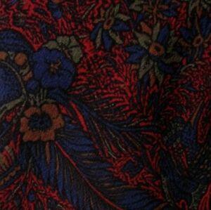 Vintage Red Purple Floral Silk Tie