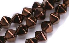 50 Bronze Dia Bicone Czech Glass Beads 6MM