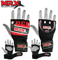 Boxing Inner Gloves Fingerless Training MMA Muay Thai Mitts Quick on Wraps MRX