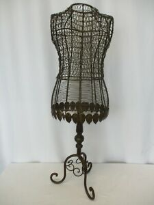 """Vintage Decorative Antique Bronze Dress Form 33"""""""