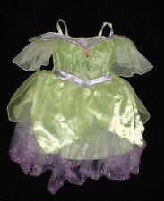 EUC Disney Store Girls TINKER BELL Fairy Dress Up Costume Dress Sz 4