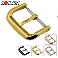 Men Women Stainless Steel Watch Band Buckle Polished 10 12 14 16 18 20 22 24mm