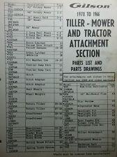 Gilson Wards Garden Tiller Mower Tractor Attachment 1957-1970 Parts (2 Manuals)