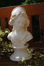 Schöne Dame Büste  XL Frau Figur Skulptur 42 cm  Shabby Antik Style  Garten Deko