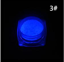 1 Box Manicure DIY Acrylic Neon Color Glow In Dark Nail Powder Dust Fluorescent