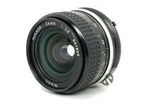 Vintage Nikon Ai NIKKOR 24mm f2.8 MF F Mount Wide Angle Lens from Japan