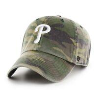 Philadelphia Phillies 47 Brand Clean Up Camo Adjustable Field Cotton Hat Dad Cap