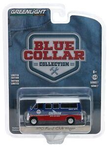 1:64 GreenLight *BLUE COLLAR 7* Chevron Oil 1970 Ford Club Wagon VAN *NIP*