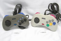 (2 variations)  Sega Saturn Controller Pad Gray White Official Genuine z9009