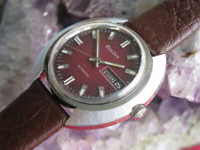 Vintage Bulova Stainless Steel Automatic Day-Date Wrist Watch , ca 1973