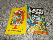 L'UOMO RAGNO N.146 CORNO 1975 ORIGINALE NO RESA OTTIMO tipo DEVIL THOR F4 HULK