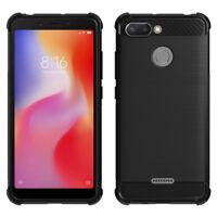 "Coque Etui Silicone Souple en Fibre de Carbone Brossé TPU Xiaomi Redmi 6 5.45"""