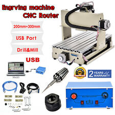 USB 3 Axis 3020 CNC Router Engraver Drilling Table Milling Desktop CNC Machine