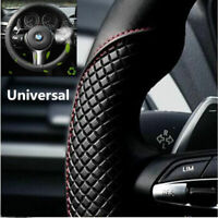 Black&Red Soft Microfiber Leather Car Steering Wheel Cover Anti-slip Protector