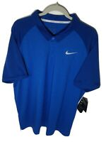 Nike Dri-Fit Polo Golf Shirt L-XL Men's Blue Ventilated Short Sleeve 891190-465