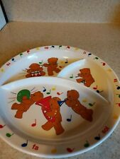 Anacapa Melamine Vintage Childrens Dishes with Bears & Musical theme from 1987