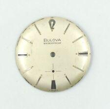 USED BULOVA 11AF WATERPROOF SWISS 28MM SILVER WATCH DIAL