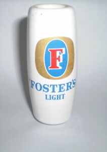 Australian beer tap top (Ceramic)  - Fosters Light FREE POST AUSTRALIA WIDE