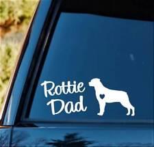 M1142 Rottie Dad Rottweiler Dog Breed Decal Sticker Pet Gift Accessory Art