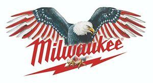 MILWAUKEE TOOLS STICKER DECAL FLYING EAGLE MECHANIC GLOSSY LABEL TOOL BOX USA