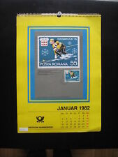 Kalender 1982 (Deutsche Bundespost) mit Briefmarken Postkalender