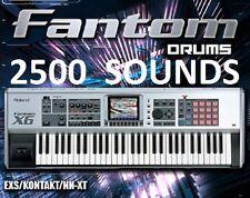 Fantom DRUMS & Roland Sounds 2,500 SAMPLEs  MPC kit Logic Maschine FL Reason wav