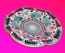 Antique Cantagalli Firenze Italy Glazed Plate ROOSTER COCKEREL 19th Century LOOK