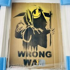 ORIGINAL BANKSY WRONG WAR SCRUBBED OUT GRIN REAPER ROYS PEOPLE MASON STORM
