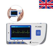 Handheld ECG Monitor Portable EKG Monitor Color Patient Monitor + Lead Cable & E