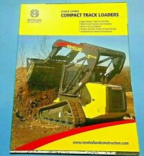 Factory 2005 New Holland Compact Track Loaders Dealership Spec Brochure Manual
