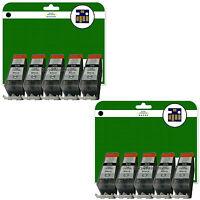 10 C520 Negro Cartuchos de tinta para Canon Pixma iP3600 iP4600 iP4700 NO OEM