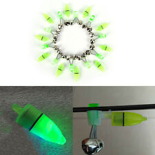 10x Night Fishing Accessory Rod Tip LED Light Fish Bite Double Alarm Bell TO