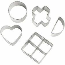 Wilton 5 Piece Metal Treats Cookie Pop Fondant Cutter Set Party Craft Decorating
