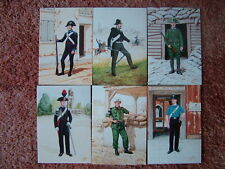 6 Card Set No 16 Military Postcards THE CARABINIERI OF ITALY. Mint condition.