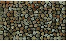 Recycled Rubber Door Mat Entry Pebble Beach Rubber Rocks Stone Flooring Rug