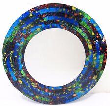 "Mirror ""Blue Galaxy"" hand made mosaic glass wall mount 514 Home Decor"