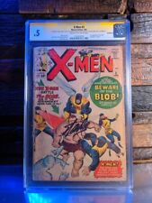 Uncanny X-Men 3 CGC 0.5 Cream to Off White Pages Signed Stan Lee 1st Blob