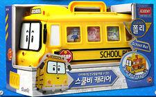 NEW Robocar Poli School Bi Carrie Bus Die-Casting 14 Diecast Figure Storage Kids
