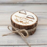 Rustic Ring Bearer,Personalized Wedding Ring Box,Wooden Ring Holder,Ring Pillow