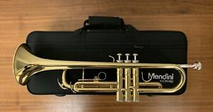 Brand New Sealed Mendini by Cecilio MTT-L Gold Bb Trumpet With Case