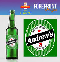 Personalised Beer/Lager Spoof bottle labels - PERFECT VALENTINES GIFT/PRESENT