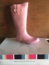 Crew Ladies Designer Wellington Boots, £55 Pink Size 5 Limited Stock