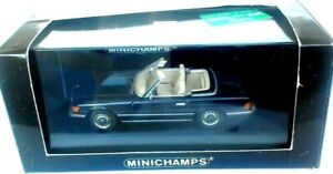 MERCEDES 350 SL 1970-1989 BLEU NUIT MINICHAMPS PAUL'S MODEL ART AUTO COMME NEUVE