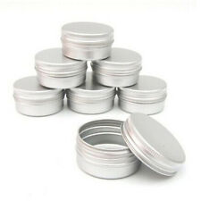 10X Tin Cosmetic Empty Jar Pot Cream Lip Balm Bottle Box Container Case Stroage
