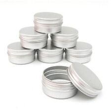 10pcs/set Cosmetic Empty Jar Pot Cream Lip Balm Bottle Box Container Tin Case