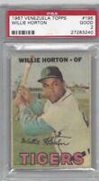 1967 Topps Venezuelan baseball card #195 Willie Horton, Detroit Tigers PSA 2