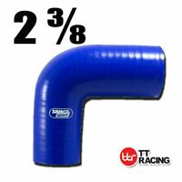 "Silicone Turbo Pipe BOV 90 Degree Elbow Radiator Hose Pipe 60mm 2.375"" (3-ply)"
